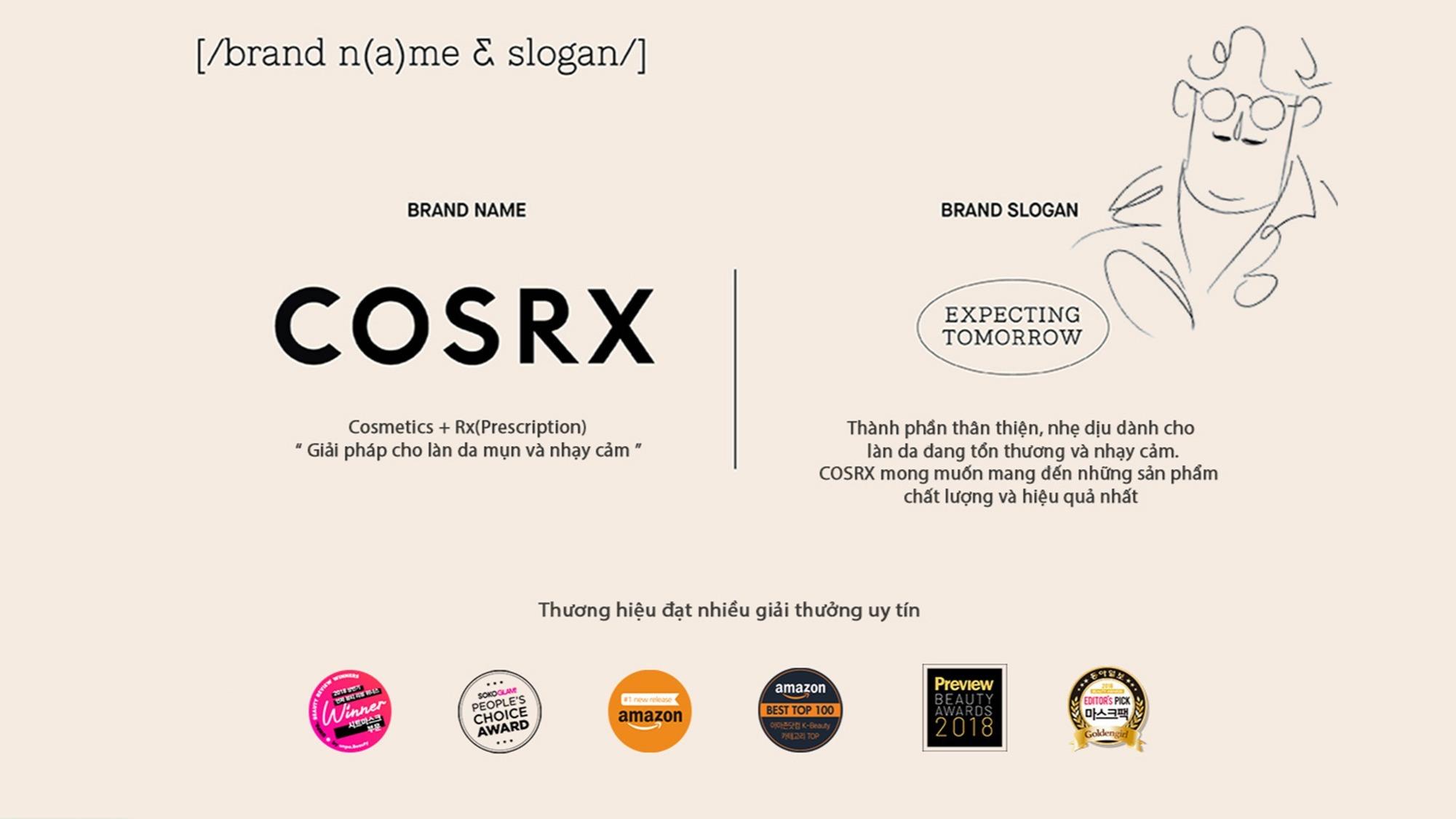 COSRX brand & slogan